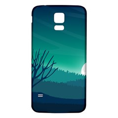 Landscape Wallpaper Background Samsung Galaxy S5 Back Case (white)