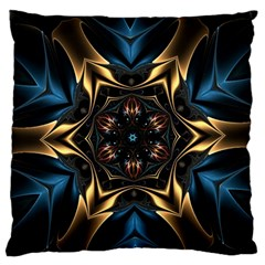 Pattern Texture Copper Teal Design Large Cushion Case (two Sides)