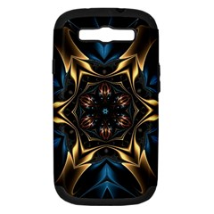 Pattern Texture Copper Teal Design Samsung Galaxy S Iii Hardshell Case (pc+silicone)