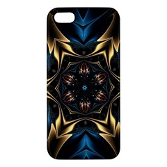 Pattern Texture Copper Teal Design Apple Iphone 5 Premium Hardshell Case