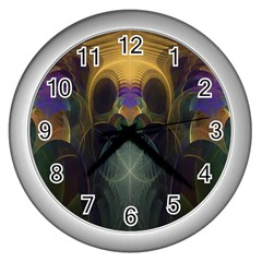 Fractal Colorful Pattern Design Wall Clock (silver)