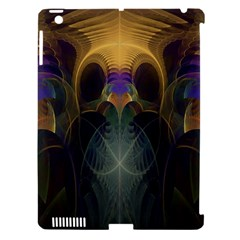 Fractal Colorful Pattern Design Apple Ipad 3/4 Hardshell Case (compatible With Smart Cover)