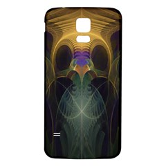 Fractal Colorful Pattern Design Samsung Galaxy S5 Back Case (white)