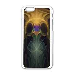 Fractal Colorful Pattern Design Apple Iphone 6/6s White Enamel Case