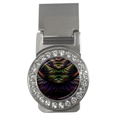 Fractal Colorful Pattern Fantasy Money Clips (cz)