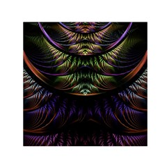 Fractal Colorful Pattern Fantasy Small Satin Scarf (square)