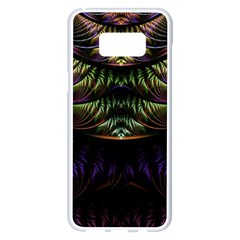 Fractal Colorful Pattern Fantasy Samsung Galaxy S8 Plus White Seamless Case