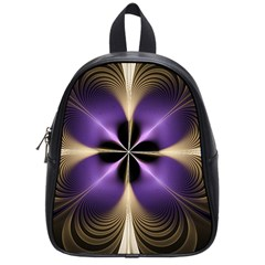 Fractal Glow Flowing Fantasy School Bag (small) by Wegoenart