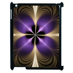 Fractal Glow Flowing Fantasy Apple Ipad 2 Case (black)