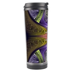 Fractal Blue Tin Pattern Texture Travel Tumbler