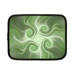 Fractal Green White St Patricks Day Netbook Case (small)
