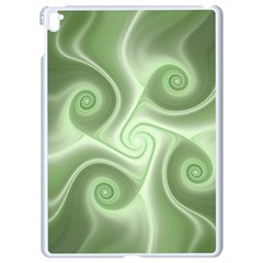 Fractal Green White St Patricks Day Apple Ipad Pro 9 7   White Seamless Case