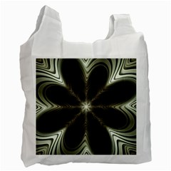 Fractal Silver Waves Texture Recycle Bag (one Side)