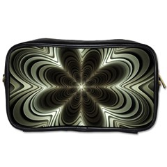 Fractal Silver Waves Texture Toiletries Bag (one Side)