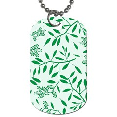 Leaves Foliage Green Wallpaper Dog Tag (one Side)