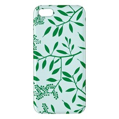 Leaves Foliage Green Wallpaper Apple Iphone 5 Premium Hardshell Case
