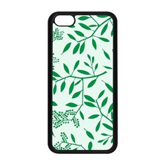 Leaves Foliage Green Wallpaper Apple Iphone 5c Seamless Case (black) by Wegoenart