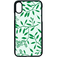 Leaves Foliage Green Wallpaper Apple Iphone Xs Seamless Case (black)