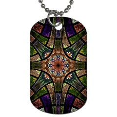 Fractal Detail Elements Pattern Dog Tag (one Side)