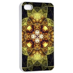 Fractal Yellow Gold Decorative Apple Iphone 4/4s Seamless Case (white)
