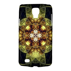 Fractal Yellow Gold Decorative Samsung Galaxy S4 Active (i9295) Hardshell Case