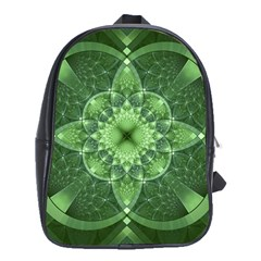 Fractal Green St Patrick S Day School Bag (large)
