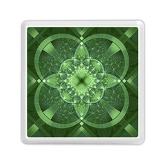Fractal Green St Patrick S Day Memory Card Reader (square)