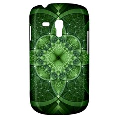Fractal Green St Patrick S Day Samsung Galaxy S3 Mini I8190 Hardshell Case