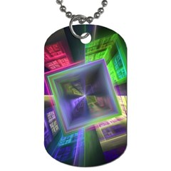 Perspective Technology Fractal Dog Tag (one Side)