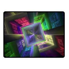 Perspective Technology Fractal Double Sided Fleece Blanket (small)