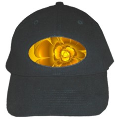 Fractal Yellow Flower Floral Black Cap