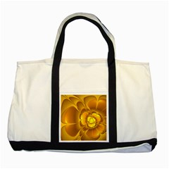 Fractal Yellow Flower Floral Two Tone Tote Bag