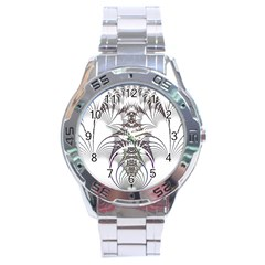 Fractal Delicate Intricate Stainless Steel Analogue Watch