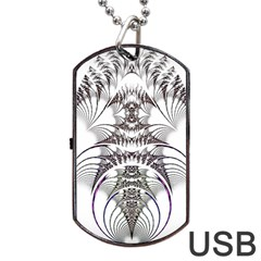 Fractal Delicate Intricate Dog Tag Usb Flash (two Sides)