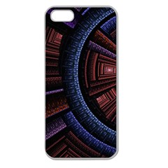 Fractal Circle Pattern Curve Apple Seamless Iphone 5 Case (clear)