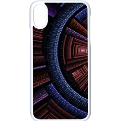 Fractal Circle Pattern Curve Apple Iphone Xs Seamless Case (white)