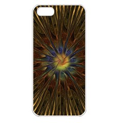 Fractal Golden Spiral Geometry Apple Iphone 5 Seamless Case (white)