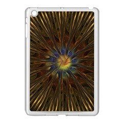 Fractal Golden Spiral Geometry Apple Ipad Mini Case (white)