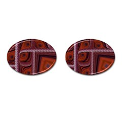 Petals Pattern Design Texture Cufflinks (oval)