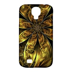 Fractal Floral Gold Golden Samsung Galaxy S4 Classic Hardshell Case (pc+silicone)