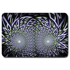 Fractal Mirror Flowers Large Doormat