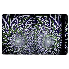 Fractal Mirror Flowers Ipad Mini 4 by Wegoenart