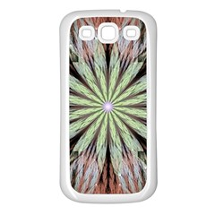 Fractal Floral Fantasy Flower Samsung Galaxy S3 Back Case (white)