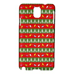Christmas Papers Red And Green Samsung Galaxy Note 3 N9005 Hardshell Case