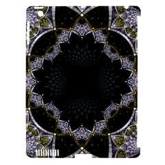 Fractal Aqua Silver Pattern Apple Ipad 3/4 Hardshell Case (compatible With Smart Cover) by Wegoenart
