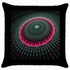 Fractal Circle Fantasy Texture Throw Pillow Case (black)