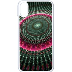 Fractal Circle Fantasy Texture Apple Iphone X Seamless Case (white) by Wegoenart