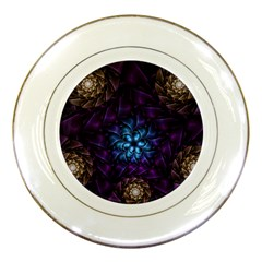 Geometry Fractal Colorful Geometric Porcelain Plates
