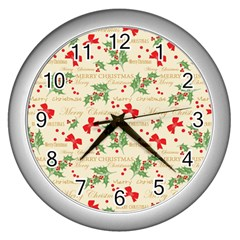 Christmas Paper Scrapbooking Wall Clock (silver)