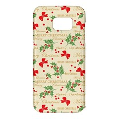 Christmas Paper Scrapbooking Samsung Galaxy S7 Edge Hardshell Case
